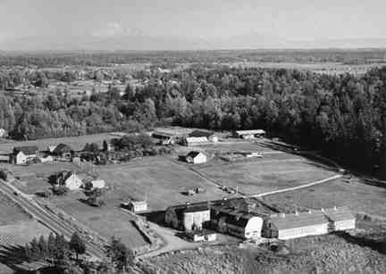 1967 aerial view of the farm