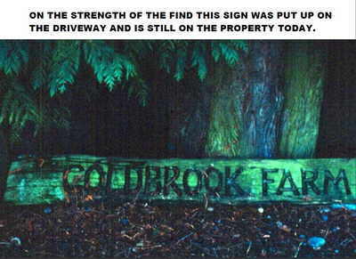 Coldbrook Farm sign