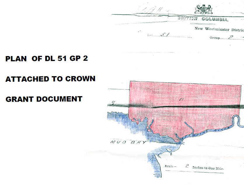 Plan attached to Crown Grant document