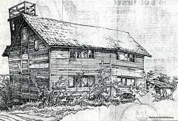 Sketch of farm house