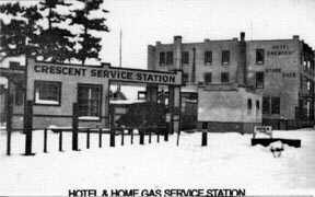 Hotel and gas station