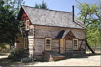 Caleb Pike's homestead in the Highland District