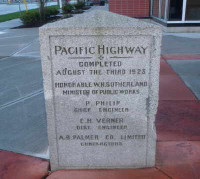 Pacific Highway marker