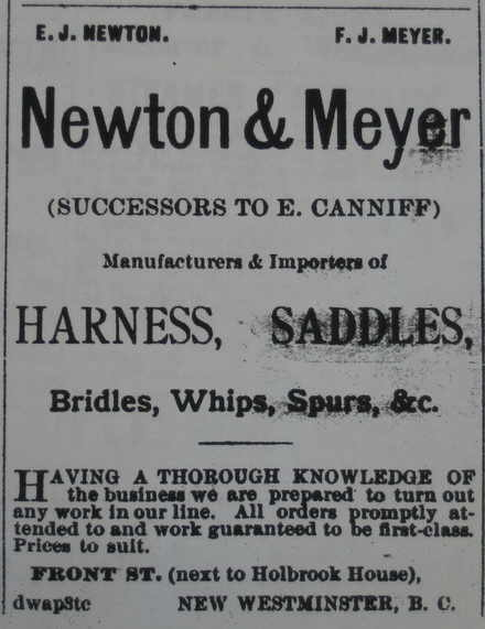 Newton and Meyer advertisement