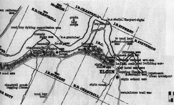 An early map of Elgin