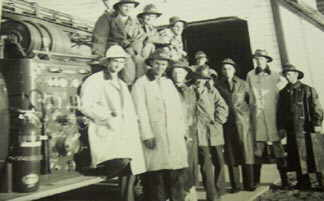 fire hall crew in Newton in 1956