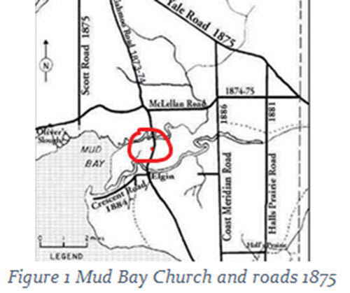 Map of location of Mud Bay Church