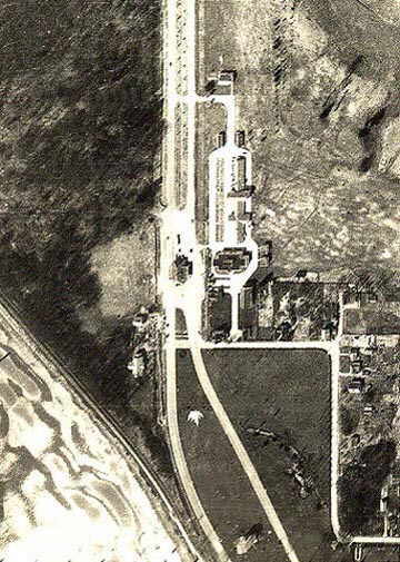Aerial photo was taken in 1949