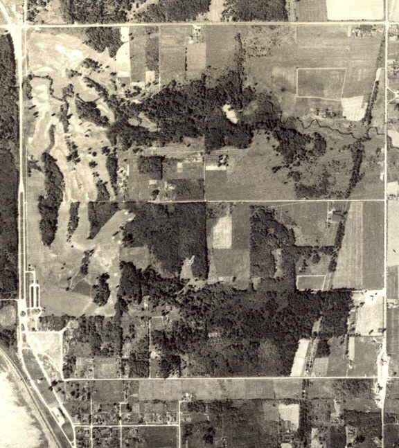 Aerial photo was taken in 1940