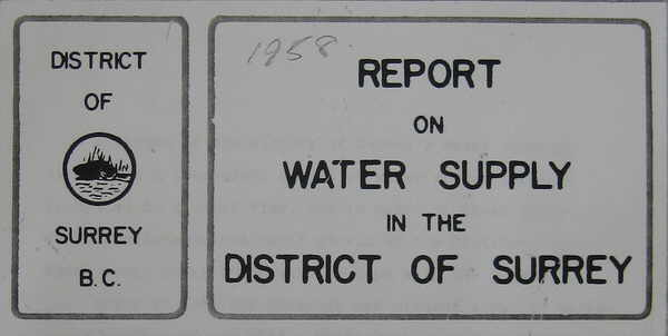 1958 Report on Surrey's Water Supply